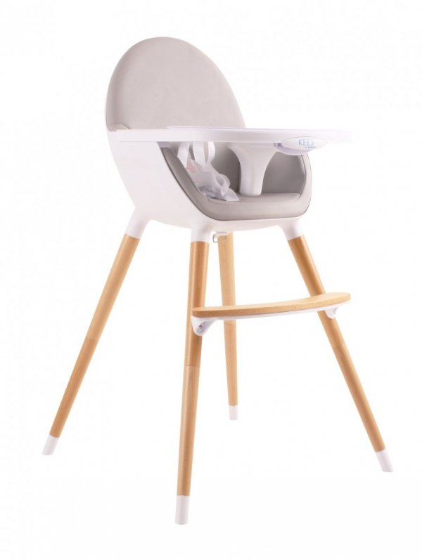 Kees, krzesełko Hi Kekk by Kees, szare lub czarne siedzisko