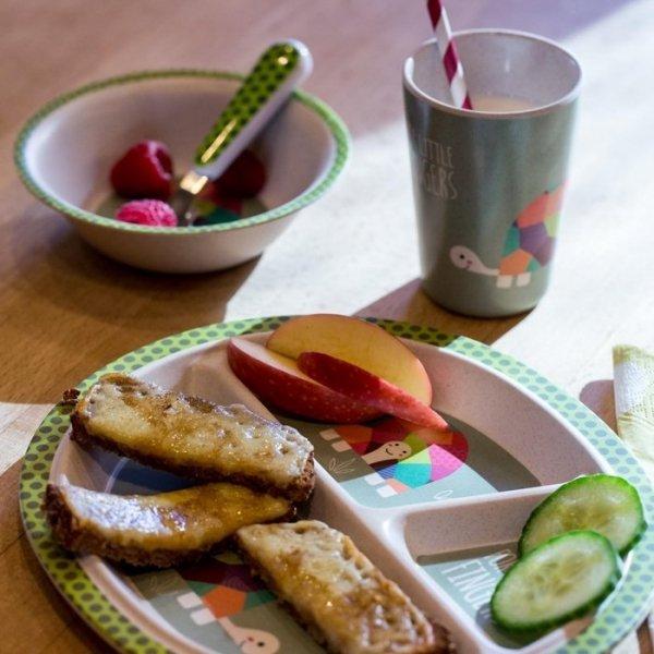 For Little Fingers, zestaw naczyń z bambusa, żółw