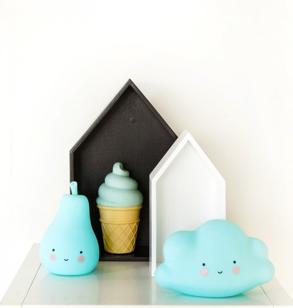 A Little Lovely Company, lampka ledowa lód w wafelku, niebieski