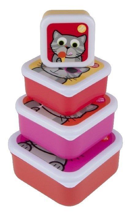 Tum Tum, zestaw pudełeczek na jedzonko, z kotkiem,