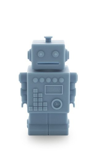 skarbonka robot, niebieski