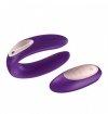 Satisfyer Partner Plus Remote - wibrator dla par (fioletowy)
