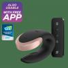 Satisfyer Double Love - wibrator z aplikacją dla par (czarny)