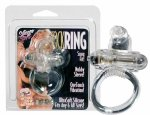 Rabbit Silicone Vib Cockring Clear