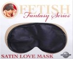 Ff Satin Love Mask - Black