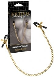 Ff Gold Nipple Chain Clamps