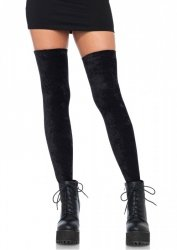 Crushed velvet thigh highs