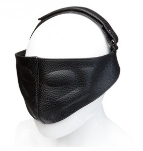 Kink by Doc Johnson - sex maska skórzana Leather Blinding Mask