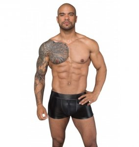 H058 Shorts made of powerwetlook and 3D net XL