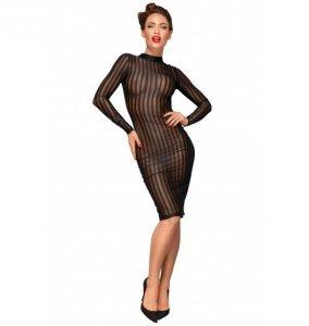 Noir handmade F182 Klasyczna sukienka z tiulu M (czarny)