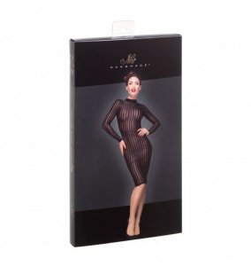 F182 Classic dress made of elastic tulle L