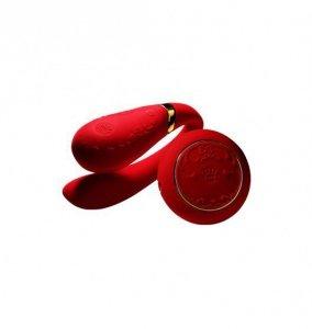 Zalo Fanfan Set - zdalnie sterowany wibrator dla par (czerwony)