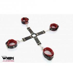 Whips Krzyżak damski (czarno - czerwony)