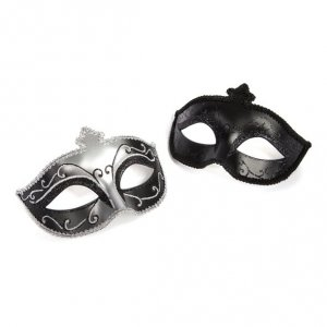 Fifty Shades of Grey - maska na oczy Masquerade Mask, zestaw Twin Pack