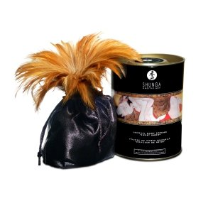 Shunga Sensual Body Powder - jadalny puder do ciała z piurem (truskawka)