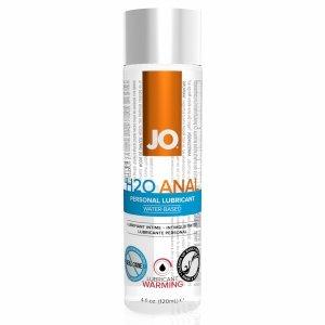 System JO Anal H2O Lubricant Warming 120 ml - rozgrzewający lubrykant analny na bazie wody