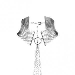 Bijoux Indiscrets - metalowa obroża dla kobiet Désir Métallique, srebrna