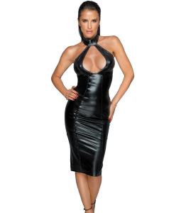 Noir handmade F231 Sukienka z niesamowitym dekoltem XL (czarny)