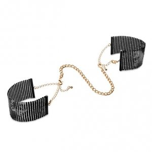 Bijoux Indiscrets - Désir Métallique metalowe kajdanki erotyczne, czarne