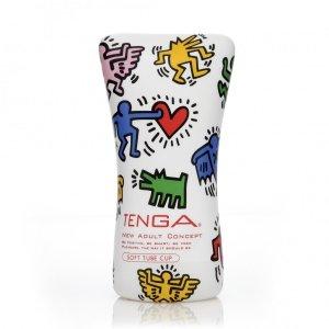 Tenga Keith Haring Soft Tube Cup - masturbator męski (kolorowy)