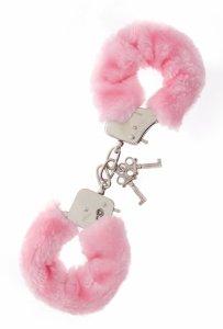 Dream Toys Handcuffs With Plush Pink- kajdanki (różowe)