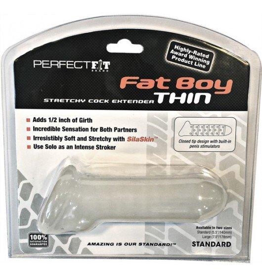 Nakładka na penisa Perfect Fit -Fat Boy Extender Thin 14cm (biały)