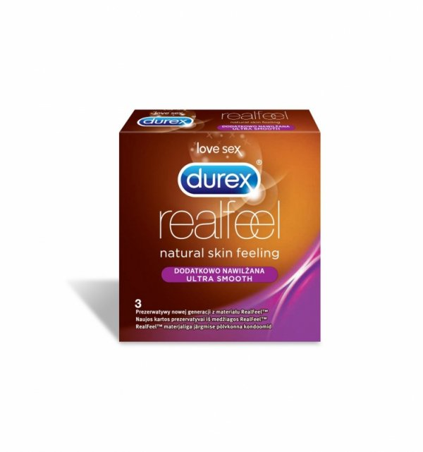 Durex Real Feel dodatkowo nawilżone (1 op. / 3 szt.)