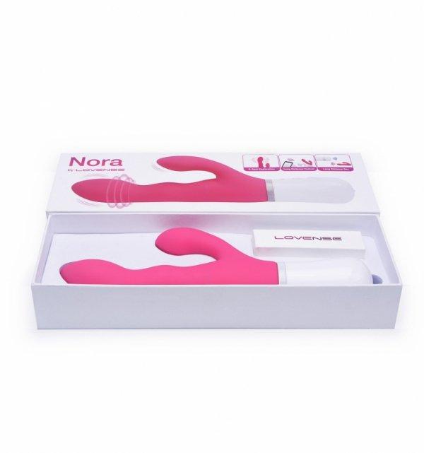 Lovense Nora - Wibrator Króliczek (różowy)