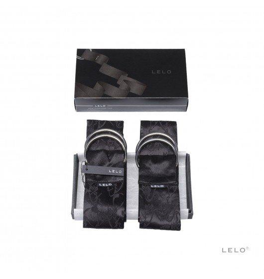 LELO - sex kajdanki szarfy Boa, czarne (Hancuffs Black)