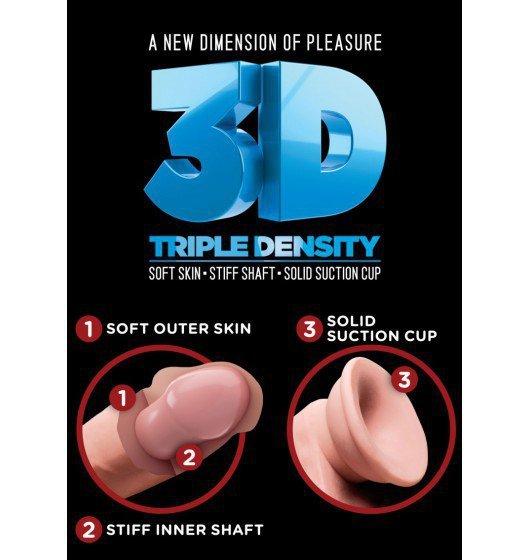 King Cock dildo - Plus 6,5'' Triple Density Cock with Balls sztuczny penis (cielisty)