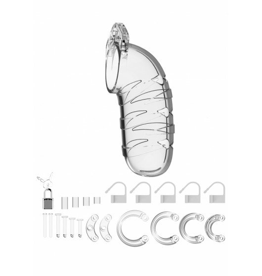 "Model 05 - Chastity - 5.5"" - Cock Cage - Transparent"