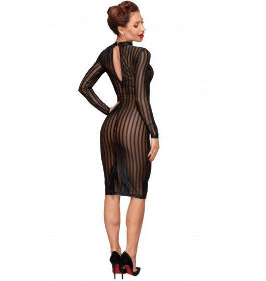 Noir handmade F182 Klasyczna sukienka z tiulu S (czarny)
