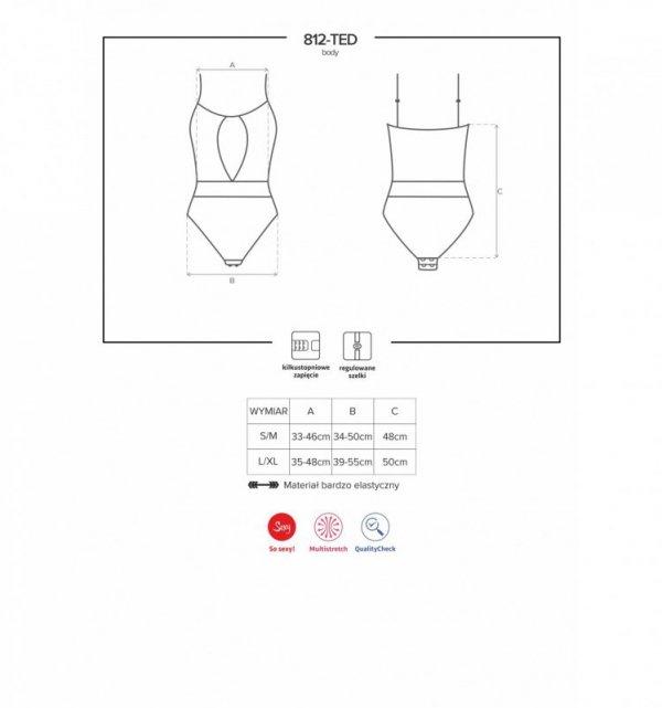 Obsessive 812-TED body S/M (czarny)