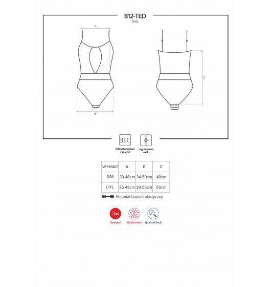 Obsessive 812-TED body czarne L/XL