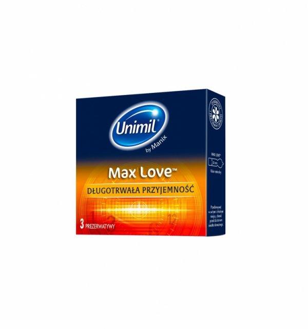 Unimil Max Love - Prezerwatywy opóźniające wytrysk (1op./3szt.)