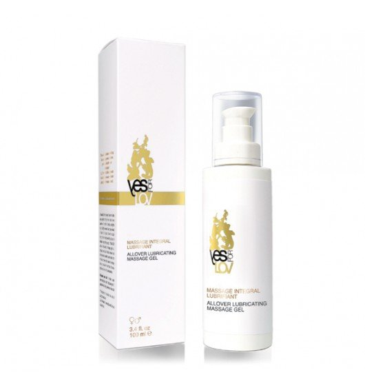 YESforLOV Allover Lubricating Massage Gel 100 ml - żel do masażu intymnego (herbata - kwiaty bali - drewno)