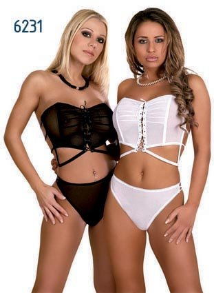 Bustier and Brief Black S