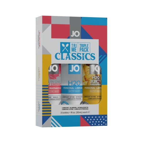 System JO Tri Me Triple Pack Classic - zestaw lubrykantów 3x30 ml