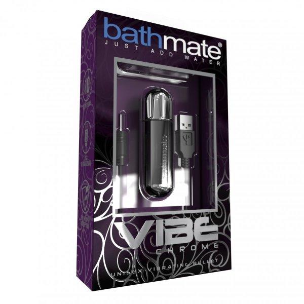 Bathmate Vibe Bullet - wibrujący nabój do pompek (chrome)