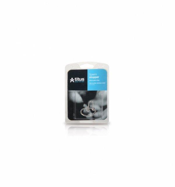 Pierścień erekcyjny Titus Range: Sperm Stopper Double 28mm