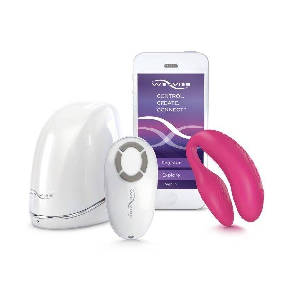 Wibrator dla par We-Vibe 4 Plus, różowy