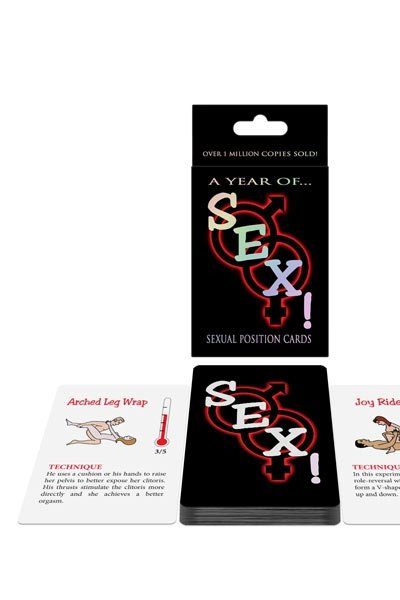 A year of SEX! Sexual position cards