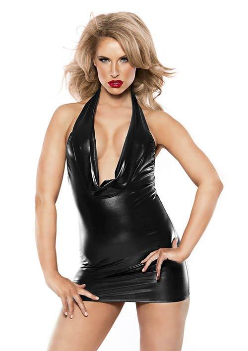 Alluring Kitten Dress Black S/L