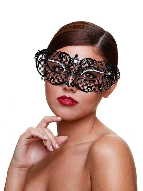 Metal Venetian Masque - Midnight