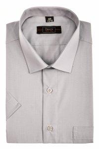 Koszula krótki rękaw Slim Line - szara
