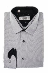 Koszula męska Slim - w strukturalny wzór