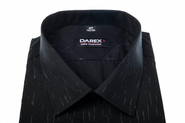 Koszula męska XXXL - czarna w biały wzorek