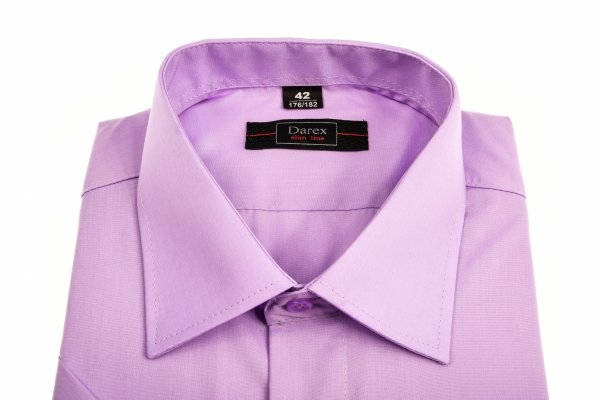 Koszula krótki rękaw Slim Line - fioletowa