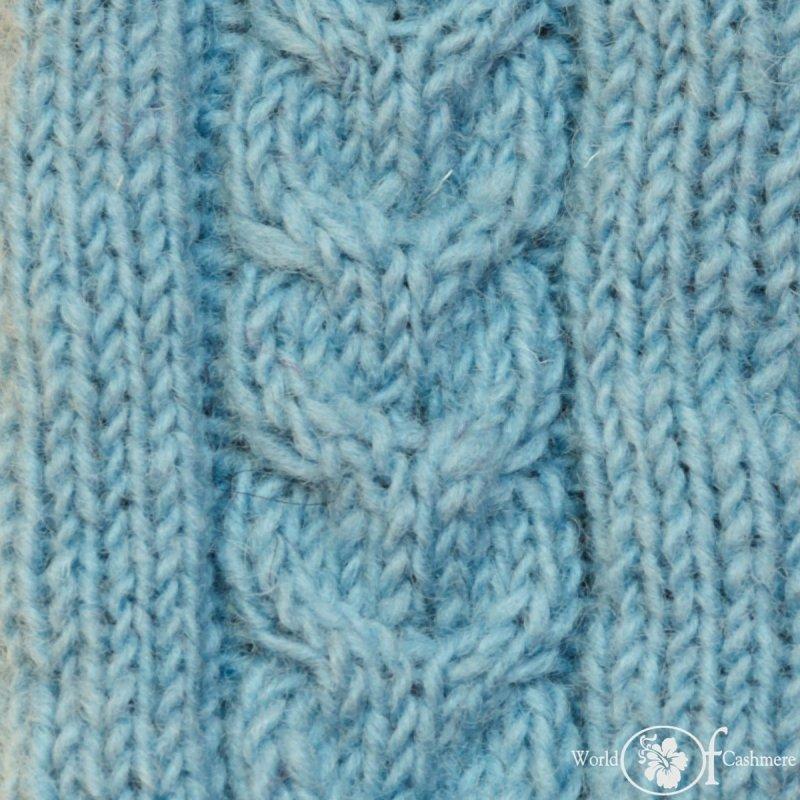 Szalik niebieski