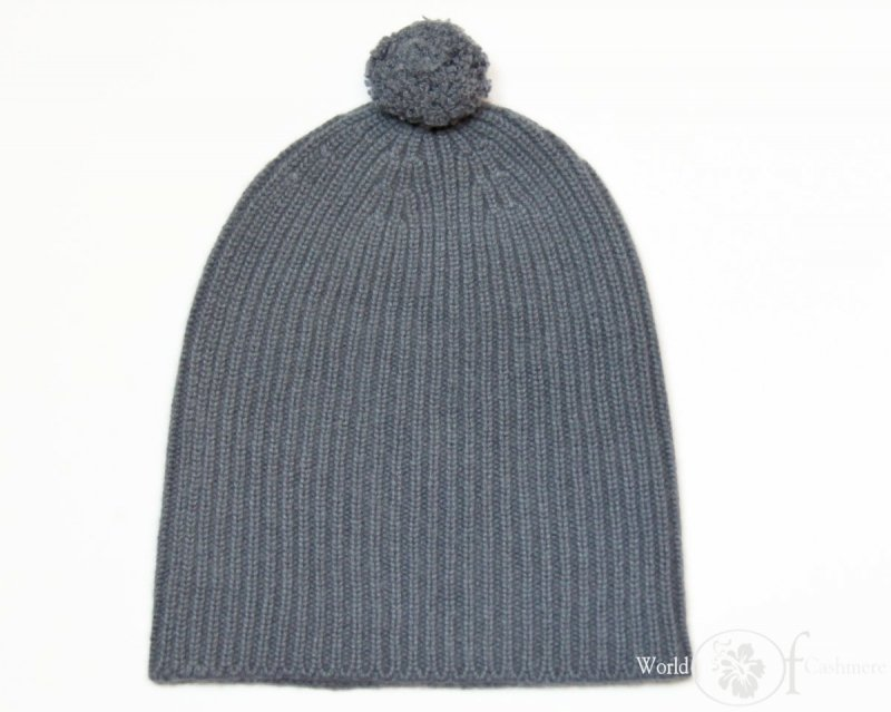 Gruba czapka z pomponem